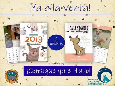 Calendario Perruno.Ladridos Vagabundos Calendarios Solidarios 2019