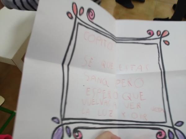 Carta de la dulce Vera para Copito