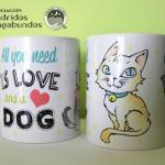 Tazas de gato o perro: Donativo: 10€ + envío